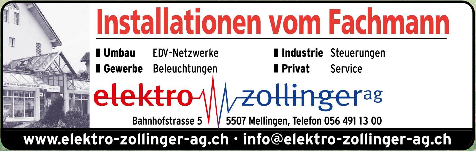 Elektro Zollinger AG - Installationen vom Fachmann