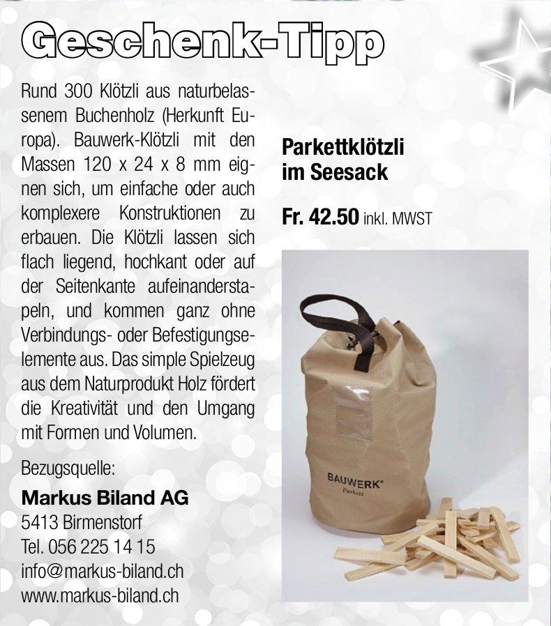 Markus Biland AG - Geschenk-Tipp