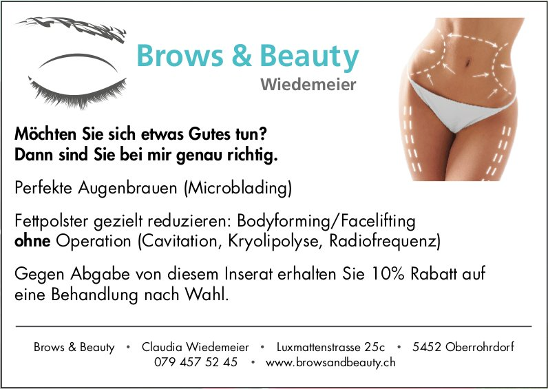 Brows & Beauty Wiedemeier - Möchten Sie sich etwas Gutes tun? Dann sind Sie bei mir genau richtig