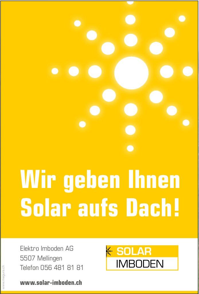 Elektro Imboden AG - Wir geben Ihnen Solar aufs Dach!