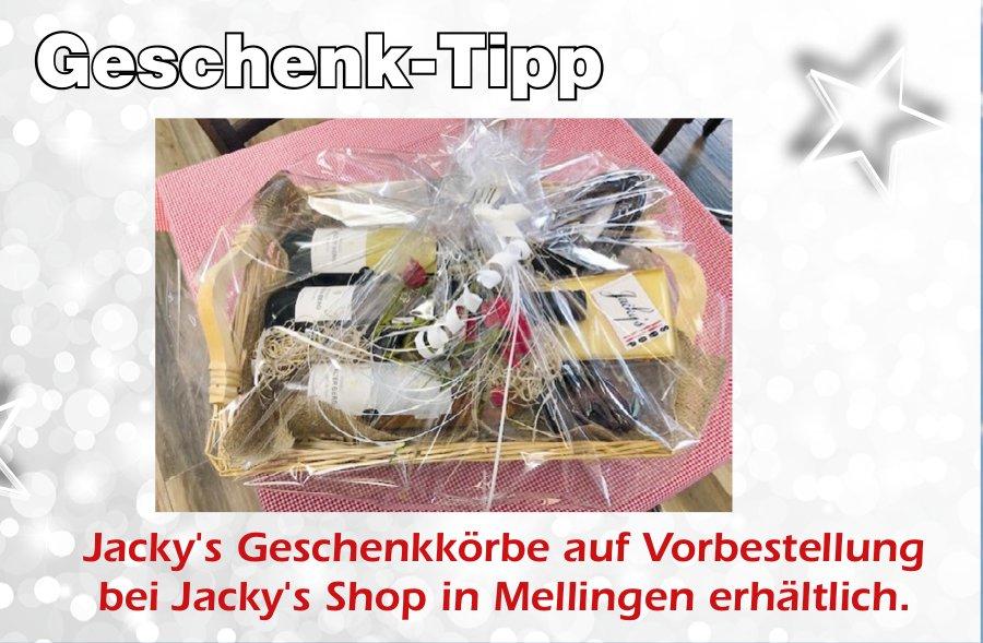 Jacky's Geschenkkörbe auf Vorbestellung bei Jacky's Shop in Mellingen erhältlich.