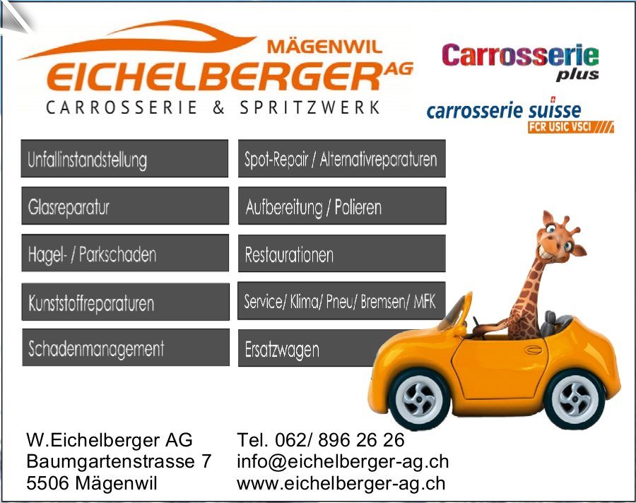 W.Eichelberger W.Eichelberger AG AG - Carrosserie & Spritzwerk