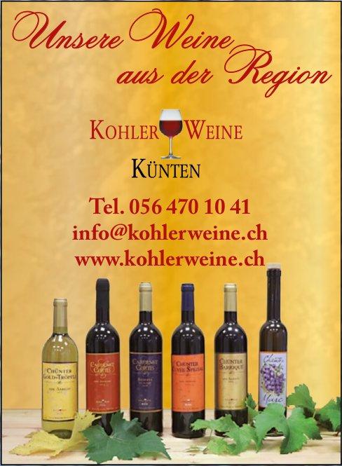 KOHLER WEINE KÜNTEN - Unsere Weine aus der Region