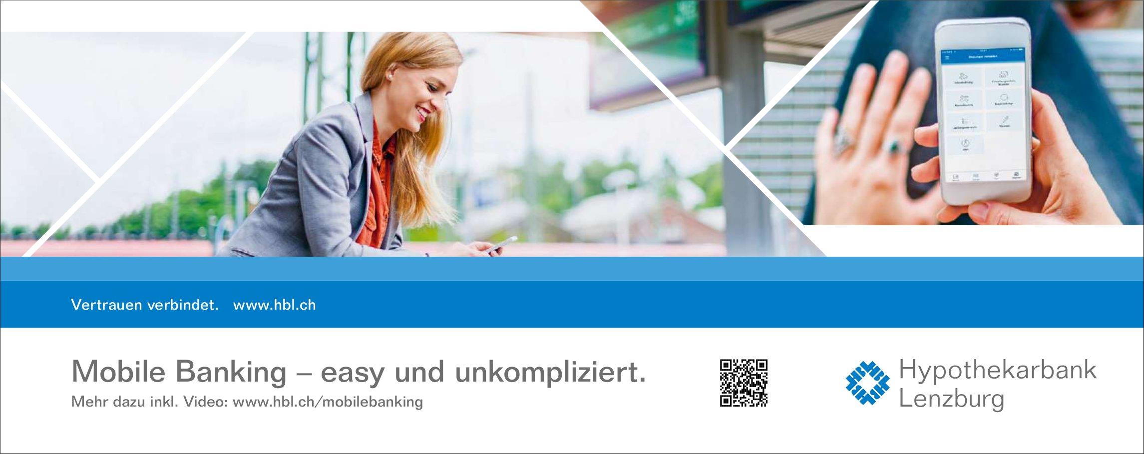Hypothekarbank Lenzburg - Mobile Banking: easy und unkompliziert.