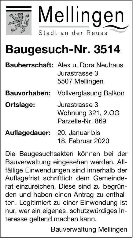 Mellingen - Baugesuch-Nr. 3514