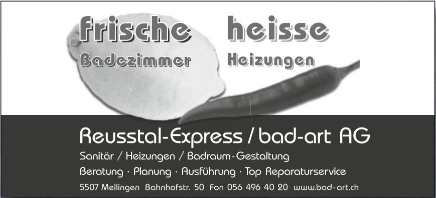 Reusstal-Express / bad-art AG - Frische Badezimmer, heisse Heizungen