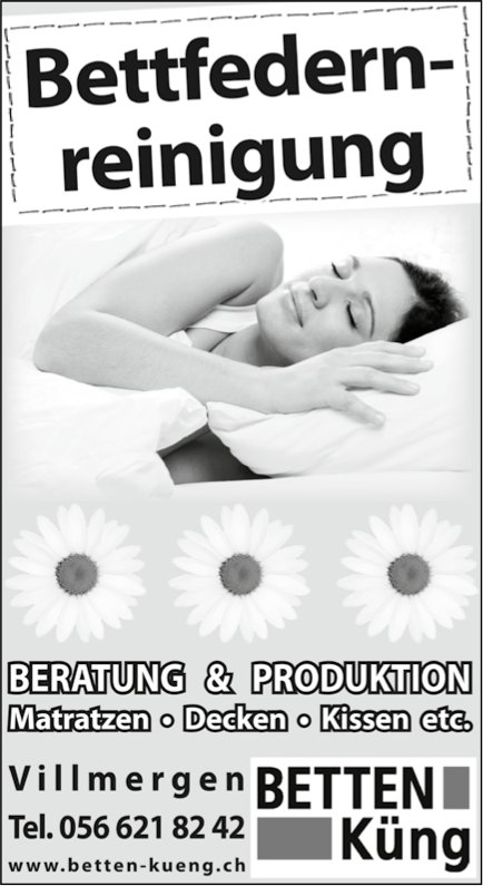 BETTEN Küng - Bettfedernreinigung