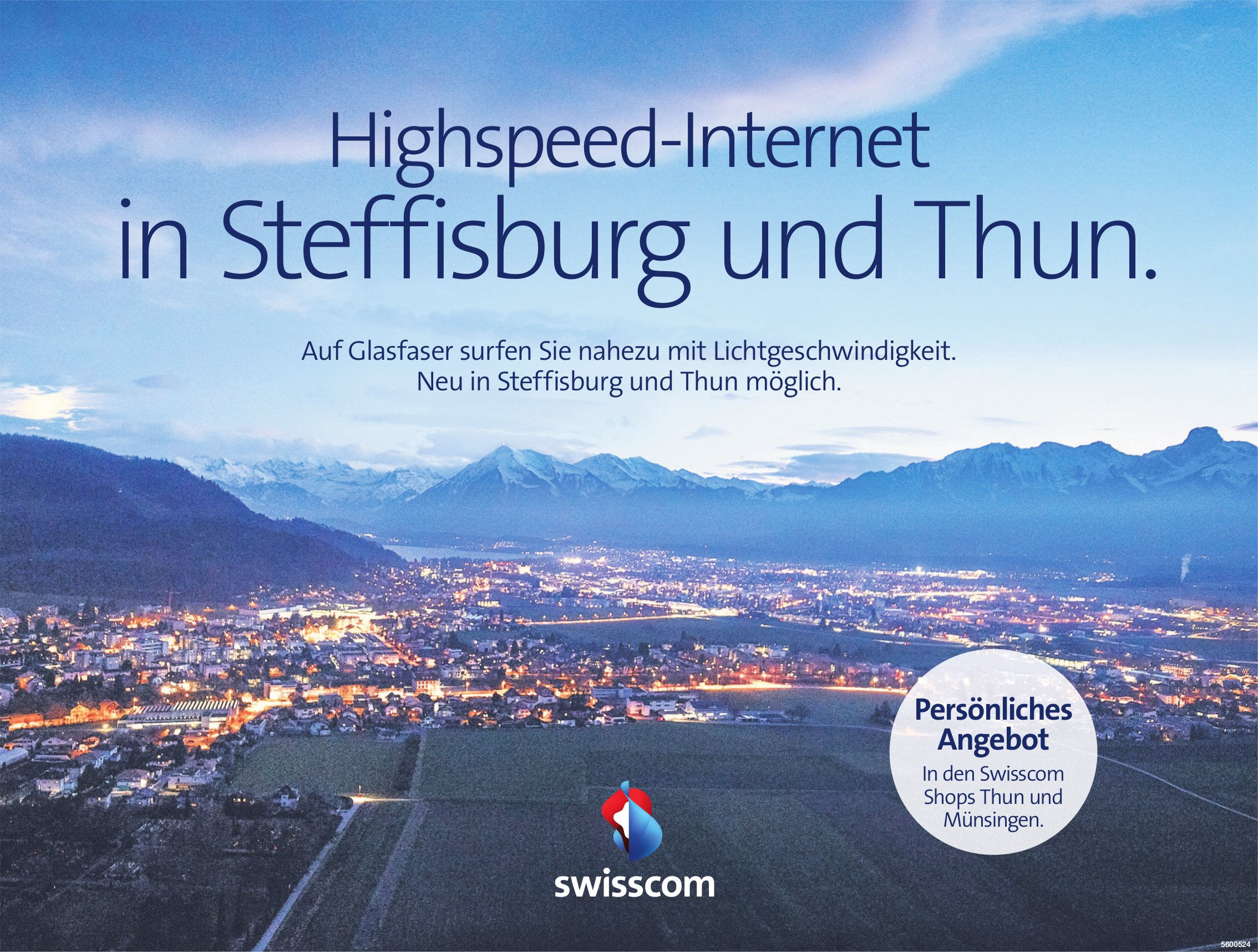 Swisscom - Highspeed-Internet in Steffisburg und Thun.