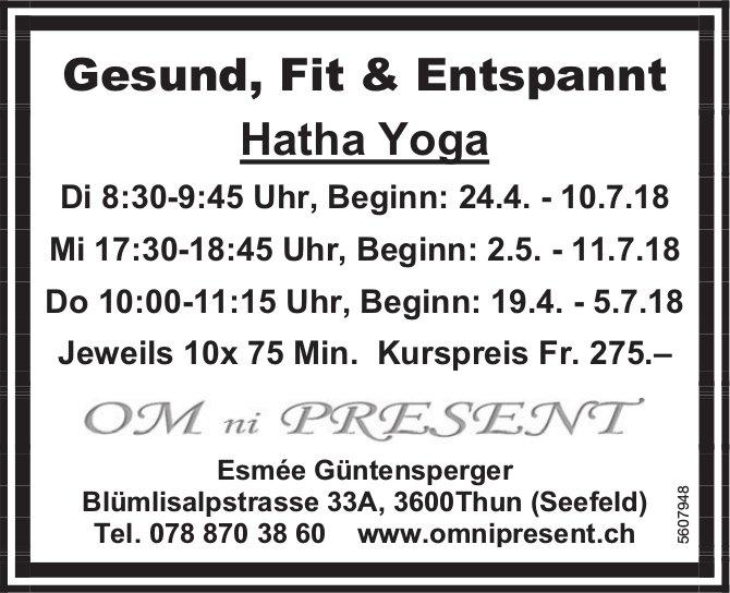 OM ni Present - Gesund, Fit & Entspannt: Hatha Yoga