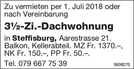 3½-Zi.-Dachwohnung in Steffisburg zu vermieten