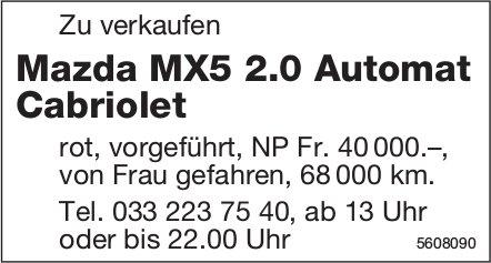 Mazda MX5 2.0 Automat Cabriolet zu verkaufen