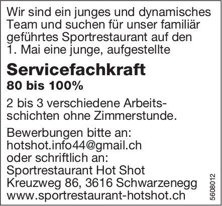 Servicefachkraft, Sportrestaurant Hot Shot, Schwarzenegg, gesucht