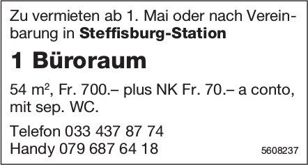 1 Büroraum in Steffisburg-Station zu vermieten