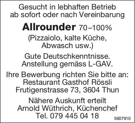 Allrounder, Restaurant Gasthof Rössli, Thun, gesucht