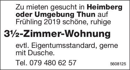 3½-zimmer-Wohnung in Heimberg oder Umgebung Thun zu mieten gesucht