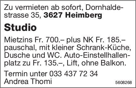 Studio in Heimberg zu vermieten