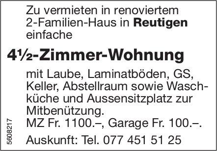 4½-Zimmer-Wohnung in Reutigen zu vermieten