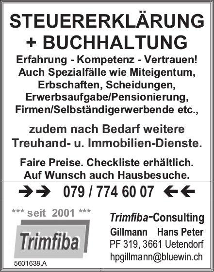 Trimfiba-Consulting - STEUERERKLÄRUNG + BUCHHALTUNG