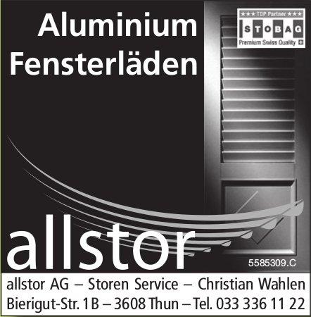 allstor AG - Aluminium, Fensterläden