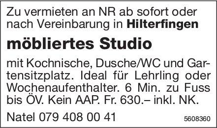 Möbliertes Studio in Hilterfingen zu vermieten
