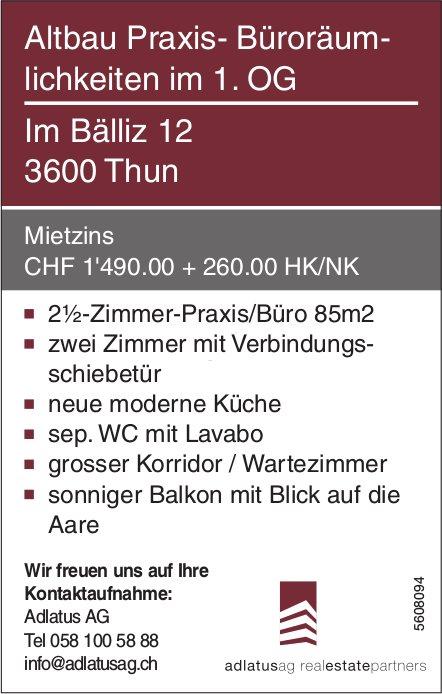 2½-Zimmer-Praxis/Büro 85m2 in Thun zu vermieten