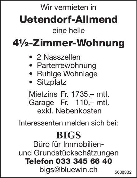 4½-Zimmer-Wohnung in Uetendorf-Allmend zu vermieten