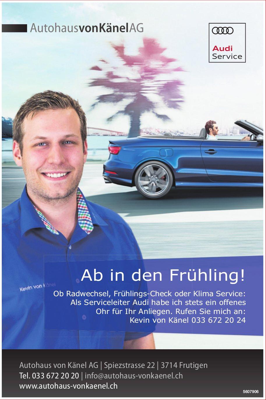 Autohaus von Känel AG - Ab in den Frühling!