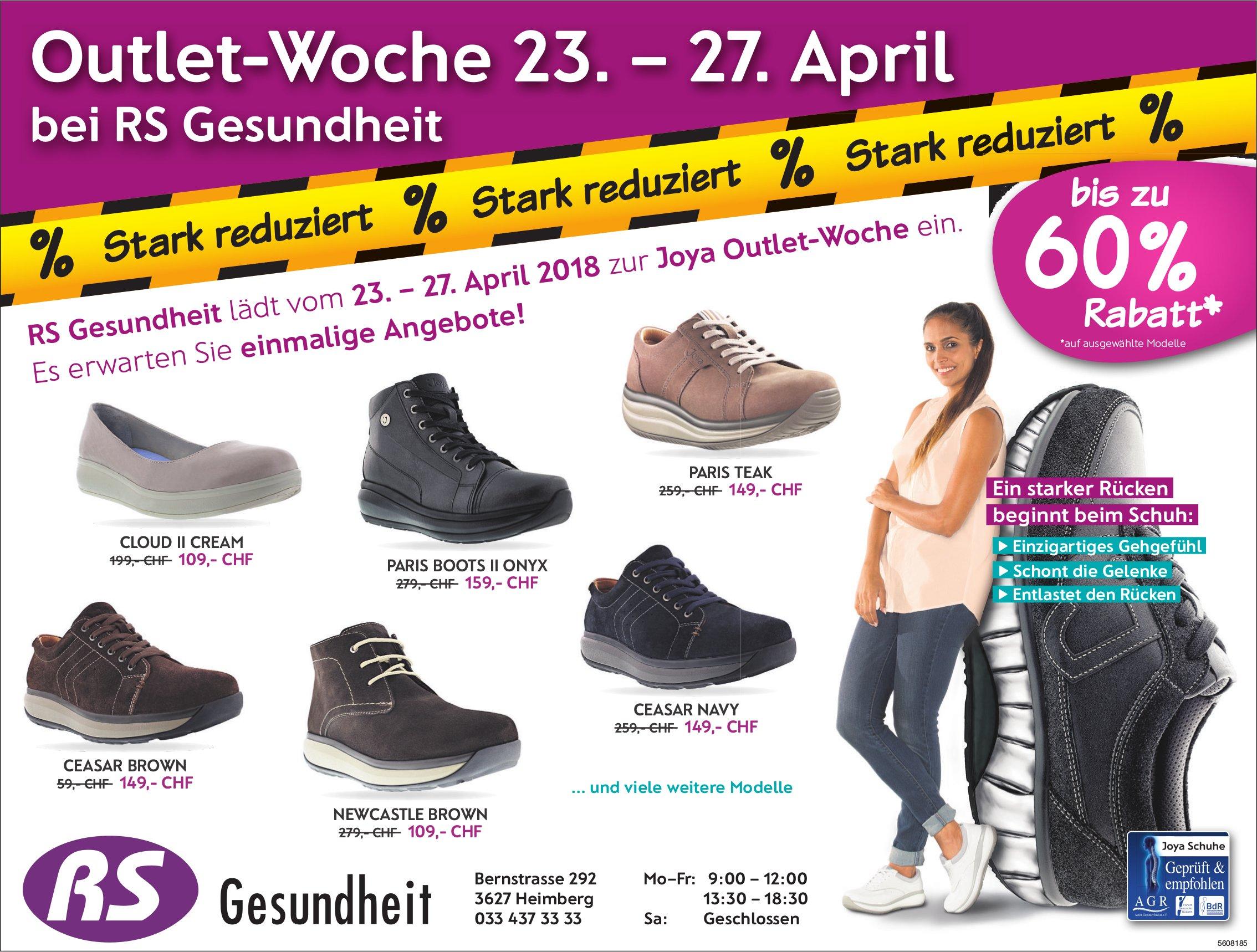Outlet-Woche 23. – 27. April bei RS Gesundheit, Heimberg