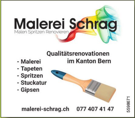 Malerei Schrag - Qualitätsrenovationen im Kanton Bern