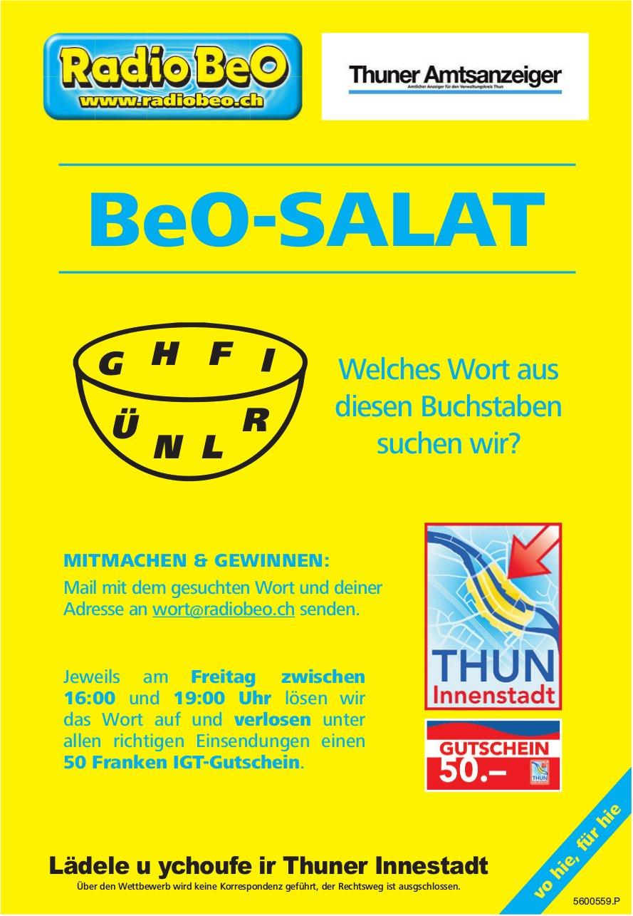 BeO-Salat - Mitmachen und gewinnen