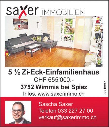 5.5 Zi-Eck-Einfamilienhaus in Wimmis bei Spiez zu verkaufen