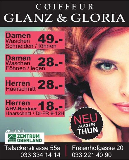 Coiffeur Glanz & Gloria, Zentrum Oberland & Thun