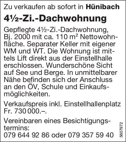 4½-Zi.-Dachwohnung in Hünibach zu verkaufen