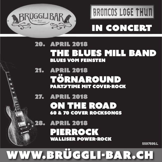 """Brügglibar - Programm """"In Concert"""""""