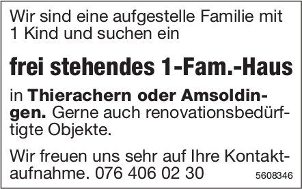 Frei stehendes 1-Fam.-Haus in Thierachern oder Amsoldingen gesucht