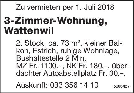 3-Zimmer-Wohnung in Wattenwil zu vermieten