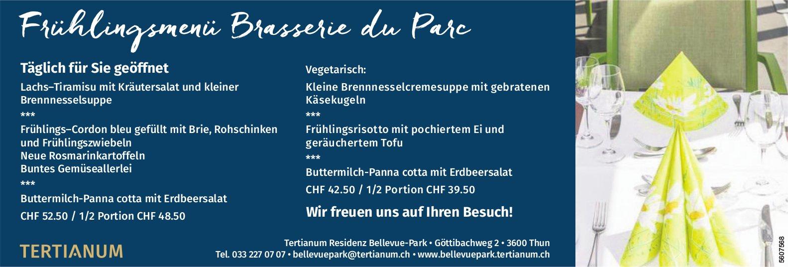 Tertianum Residenz Bellevue-Park - Frühlingsmenü Brasserie du Parc
