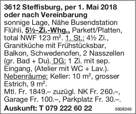 5.5-Zi.-Whg. in Steffisburg zu vermieten