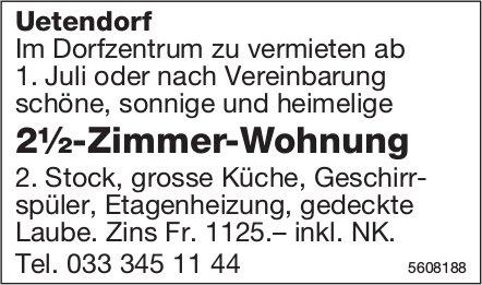 2½-Zimmer-Wohnung in Uetendorf zu vermieten