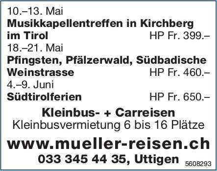 Müller Reisen - Programme und Events