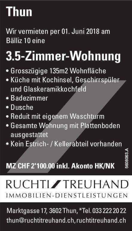 3.5-Zimmer-Wohnung in Thun zu vermieten