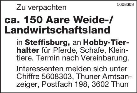 ca. 150 Aare Weide-/ Landwirtschaftsland in Steffisburg zu verpachten