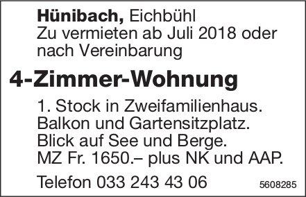 4-Zimmer-Wohnung in Hünibach zu vermieten