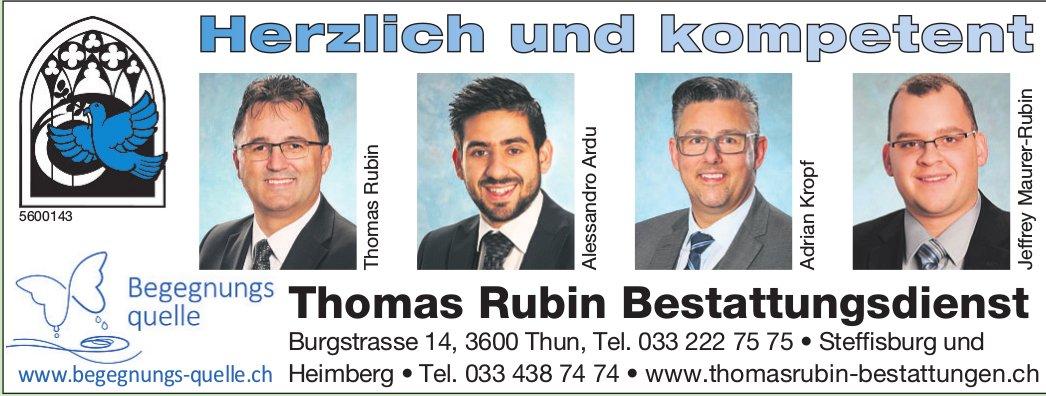 Thomas Rubin Bestattungsdienst, Thun, Steffisburg & Heimberg