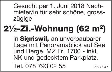 2½-Zi.-Wohnung (62 m2) in Sigriswil zu vermieten