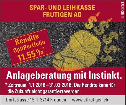 Spar- und Leihkasse Frutigen AG - Anlageberatung mit Instinkt
