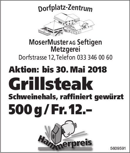 Metzgerei MoserMuster AG, Seftigen - Aktion: Grillsteak