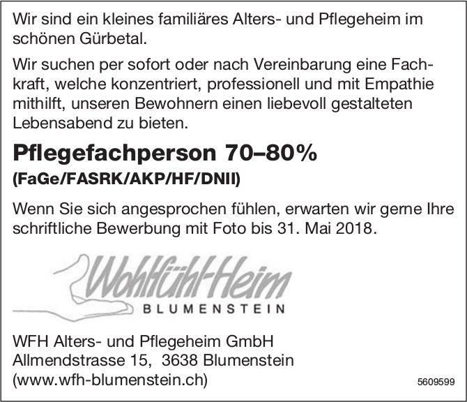 Pflegefachperson, WFH Alters- und Pflegeheim GmbH, Blumenstein, gesucht