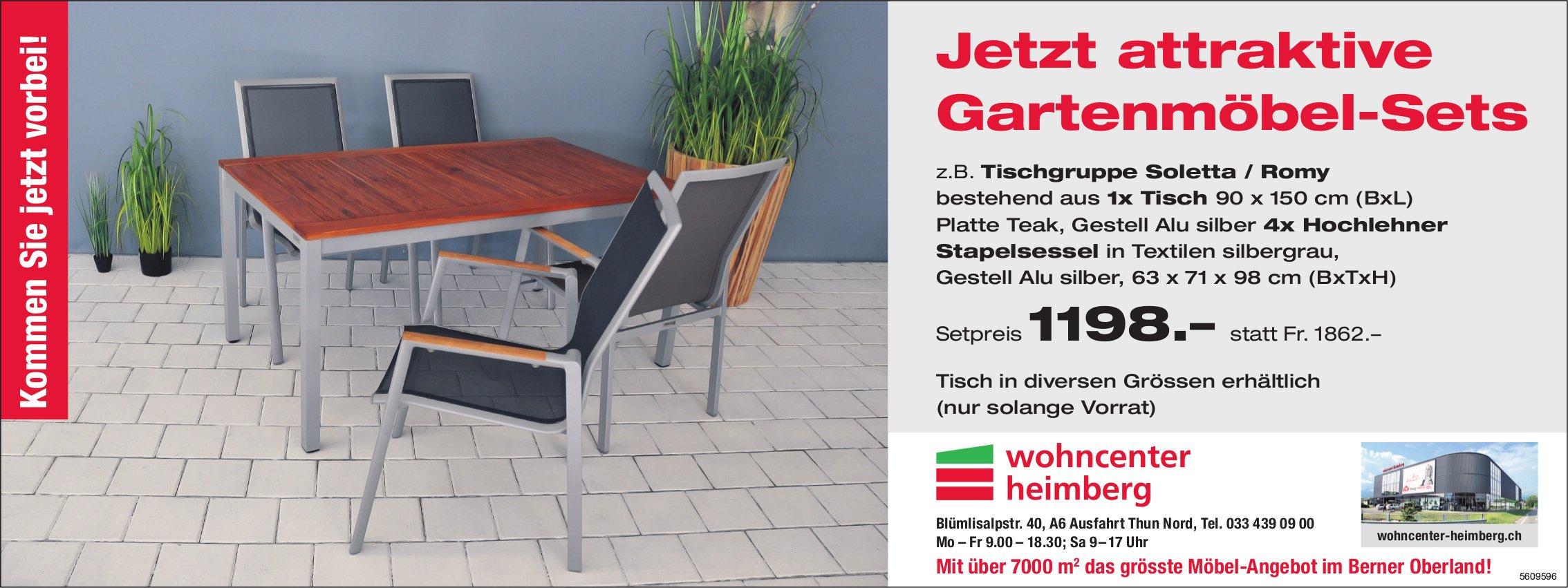 Wohncenter Heimberg - Jetzt attraktive Gartenmöbel-Sets