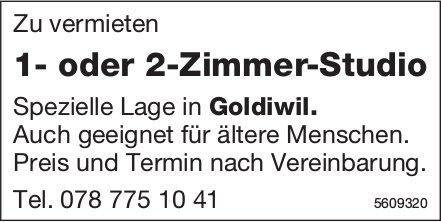 1- oder 2-Zimmer-Studio in Goldiwil zu vermieten